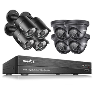 8CH 1080P HD 5-in-1 DVR Video Surveillance IR Night Vision Security Cameras System - CamHome
