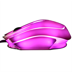 E-3LUE Optical 2400DPI Adjustable USB Wired Mouse with 7 Color LED Backlights - CamHome
