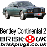 Spark plugs Brisk UK for Bentley Continental 6.75 v8 bosch K E Jetronic