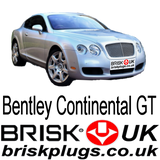 Bentley Continental GT W12 performance spark plugs Brisk UK