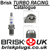 Brisk Extra Turbo Racing Spark Plugs Catalogue, variants, chart application, information, turbo, supercharged png