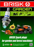 Brisk Spark Plugs Garden engines equipment cross reference Oregon NGK Champion Torch Bosch