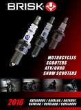 Brisk Spark Plugs for motor bikes, scooters, atv, quads racing
