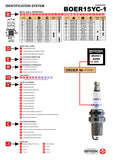 Brisk Spark Plugs identification heat range application size Silver Iridium Platinum