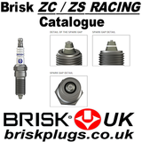 Brisk ZC ZS Racing Spark Plugs Catalogue, variants, chart application, information