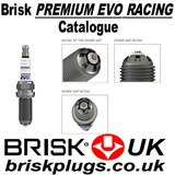 Brisk premium evo Racing Spark Plugs Catalogue, variants, chart application, information