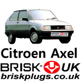 Citroen AXEL classic spark plugs performance Brisk Plugs UK