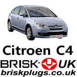 citroen C4 replacement quality ignition spark plugs brisk UK