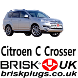 Citroen C crosser Replacement LPG CNG  performance Spark Plugs Brisk plugs UK