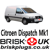 Citroen Dispatch replacement spark plugs LPG CNG Methane