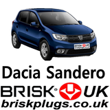 Dacia Sandero Fix misfire change spark plugs Brisk UK ignition parts LPG CNG GPL