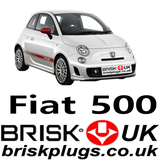 Fiat 500 Abarth spark plugs Brisk Racing Ignition parts
