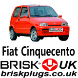 Replacement spark plugs for Fiat Cinquecento Sporting Brisk Racing UK