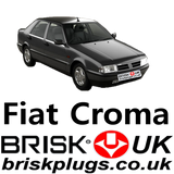 Fiat Croma 1 Brisk Performance Spark Plugs 1.6 2.0 2.5 V6 Turbo 84-96