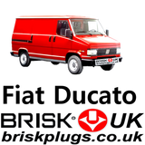 Fiat ducato Classic Brisk Replacement spark plugs lpg cng methane bi power