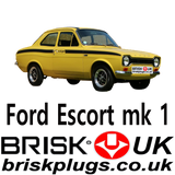 Ford Escort mk1 bda mexico racing rs spark plugs Brisk Uk
