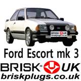 Ford Escort RS Turbo S1 mk3 Racing Spark Plugs Brisk UK Tuning performance