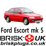 Recommended Spark Plugs for Ford Escort mk5 Rs 2000 rs cosworth XR3i Brisk USA UK ASIA AU EU