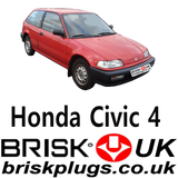 Honda Civic Spark Plugs Brisk Racing and tuning replacement parts for Civic CRX