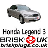 Recommended Honda Legend KA9 Spark Plugs Cross Reference Part Number Brisk Racing UK