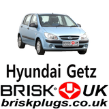 Hyundai Getz servicing spark plugs recommended misfire problems Brisk Spark Plugs AU Asia USA