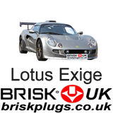 Lotus Exige Spark Plugs Racing Tuning Track day Brisk Racing UK fast post shipping more power K series