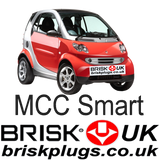 MCC Smart for two coupe Brisk Racing Tunign Spark Plugs Turbo Brabus