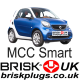 MCC Smart for two coupe Brisk Racing Tuning Spark Plugs Turbo Brabus