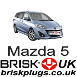 Mazda 5 CW19 Brisk Spark Plugs Tuning more power performance upgrade
