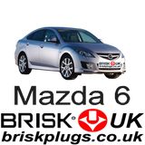 Mazda 6 MRZ Brisk Racing Spark Plugs more power tuning performance upgrade