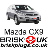 Mazda CX9 Brisk Spark Plugs Replacement Recommended Cross reference NGK Denso Bosch