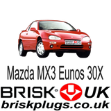 Mazda MX3 Eunos 30x Brisk Performance Spark Plugs Tuning more power