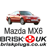 Mazda MX6 brisk spark plugs racing tuning lpg cng lng perfromance ngk denso