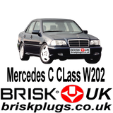 Mercedes C W202 C36 C43 AMG Spark Plugs Brisk Racing Tuning more power Kompressor NGK Bosch