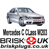 Mercedes C W203 C32 AMG Spark Plugs Brisk Racing Tuning more power Kompressor NGK Bosch