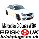 Mercedes C W204 C63 AMG Spark Plugs Brisk Racing Tuning more power Kompressor NGK Bosch