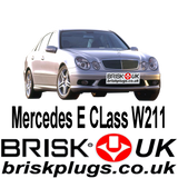 Mercedes E W211 E55 AMG Kompressor Brisk Spark Plugs Tuning Racing More Power LPG CNG