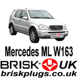 Mercedes ML W163 Brisk Performance Upgrade Spark Plugs More Power Lower Consumption fix Misfire