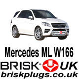 Mercedes ML W166 GL AMG 63 500 Brisk Spark Plugs more power Tuning better economy chipping remap