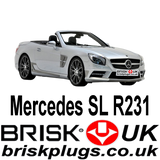 Mercedes SL R231 AMG Brabus Spark Plugs for Tuning more power chipping Brisk Plugs