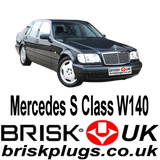Mercedes S class W140 S500 S600 Brisk Spark Plugs Tuning Power Modification mapping lower emission NGK Bosch