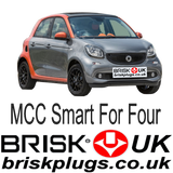 Smart For Four 2 Brisk Racing Spark Plugs Tuning Brabus more power cleaner emissions