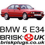 BMW E34 5 series spark plugs replacement 520i 530i 540i M5 535i M sport