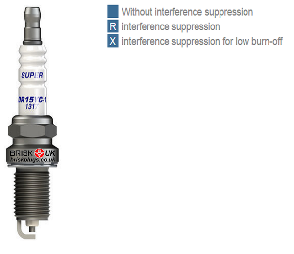 brisk spark plugs marking interference suppression