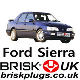 Replacement recommended Spark plugs for sierra sapphire rs zetec Pinto Brisk Racing UK