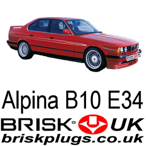 Alpina B10 E34 brisk racing spark plugs turbo m30 m60 engines