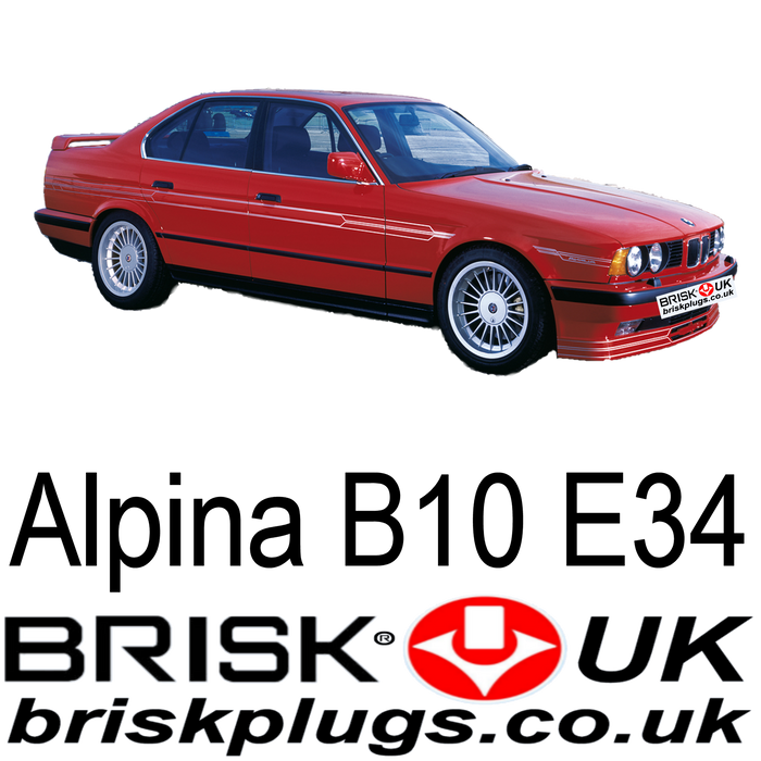 Alpina B10 E34 3.5 4.0 4.6 Turbo 88-94 Brisk Racing Spark Plugs