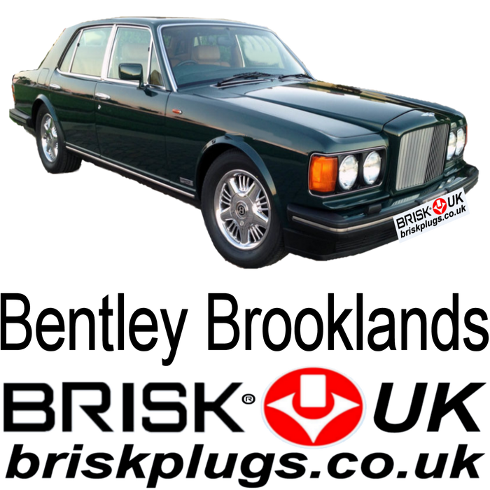 Bentley Brooklands Spark Plugs 6.75 92-97 Brisk Racing LPG Plugs