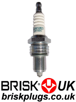 LR14ZC Racing Spark Plugs Brisk ZC ZS multi spark ignition
