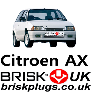 Citroen AX spark plugs Brisk Racing UK performance ignition multi spark